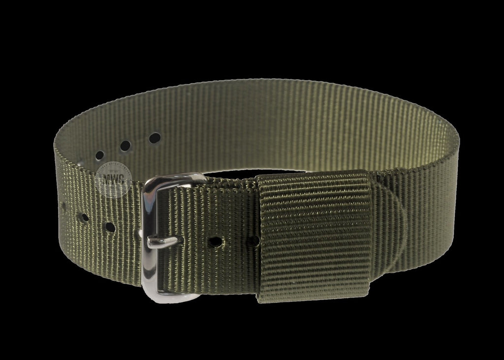 18mm US Pattern Olive Green Military Watch Strap