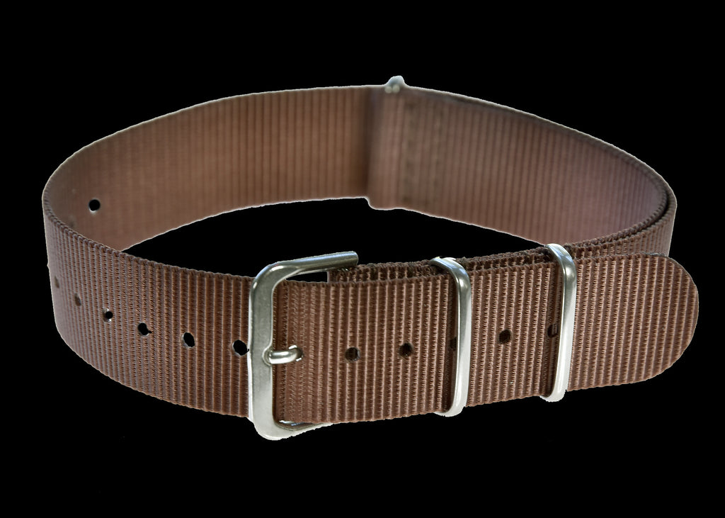 18mm Brown NATO Military Watch Strap