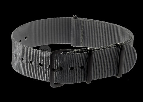 18mm PVD Grey NATO Military Watch Strap