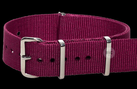 20mm Maroon Paratrooper NATO Military Watch Strap