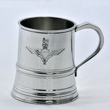 James Yates - One Pint Parachute Regiment Solid Pewter Tankard - Identical weight and dimensions as the manufacturers 19th century originals