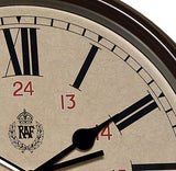 RAF 1943 Pattern Replica 12/24 Wall Clock 12