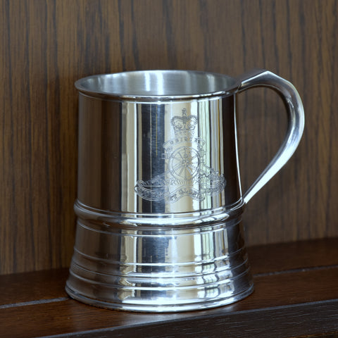 James Yates - One Pint Royal Artillery Solid Pewter Tankard - Identical weight and dimensions as the manufacturers 19th century originals