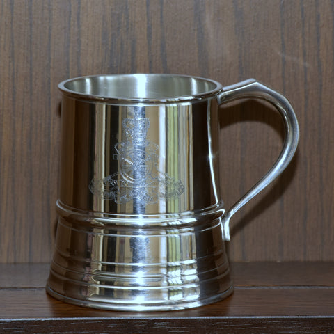 James Yates - One Pint Royal Marines Solid Pewter Tankard - Identical weight and dimensions as the manufacturers 19th century originals