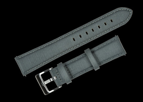 Classic 1970s / 1980s Retro Rally Pattern 20mm Black Leather Watch Strap