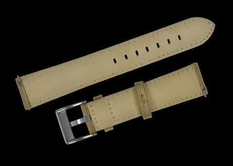 18mm Khaki Sailcloth CORDURA® Watchstrap