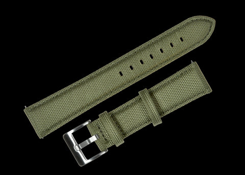 24mm Olive Green Sailcloth CORDURA® Watchstrap
