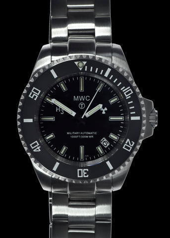 MWC Titanium General Service Watch with 300m Water Resistance, 10 Year Battery Life, GTLS, Sapphire Crystal and 12/24 Dial Format