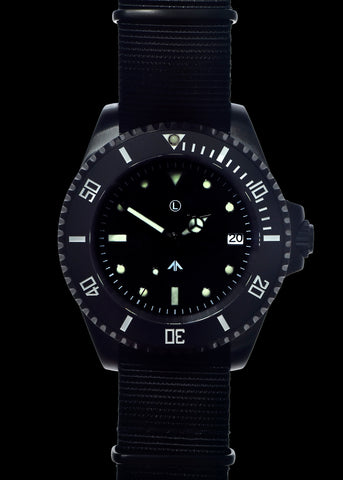 MWC 24 Jewel PVD 300m Automatic Military Divers Watch with Ceramic Bezel and Sapphire Crystal