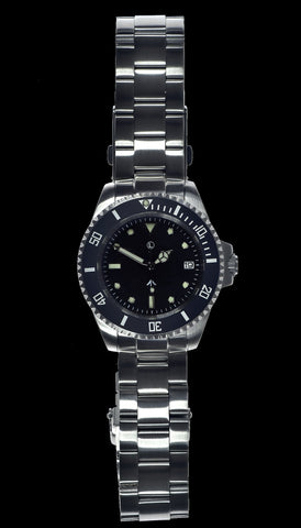 MWC 24 Jewel 300m Water Resistant Automatic Military Divers watch on Steel Bracelet with Sapphire Crystal and Ceramic Bezel