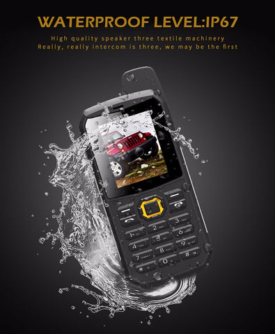 Water Resistant Dual SIM Military / Police Specification Rugged Cellphone