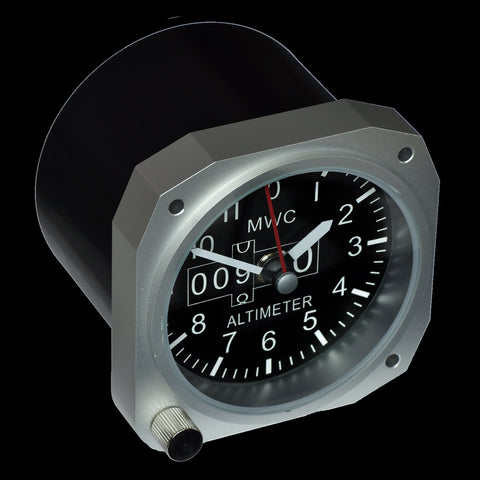 Limited Edition Replica Cockpit / Desk Clock in Matt Black Finish