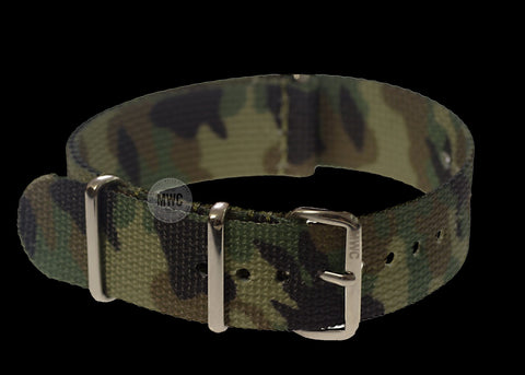 20mm Temperate Camouflage NATO Military Watch Strap