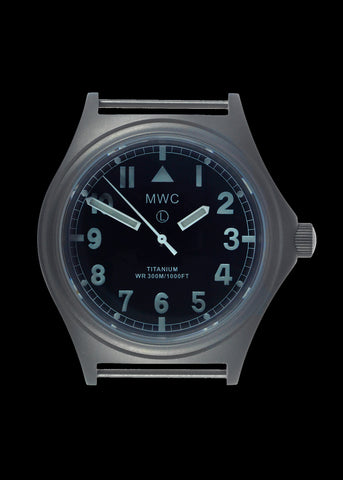 MWC Titanium General Service Watch, 300m Water Resistant, 10 Year Battery Life, Luminova, Sapphire Crystal and 12 Dial Format (Non Date Version)