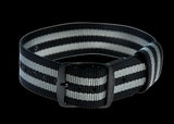 "20mm US ""James Bond"" Pattern Military Watch Strap with Black PVD Buckles"