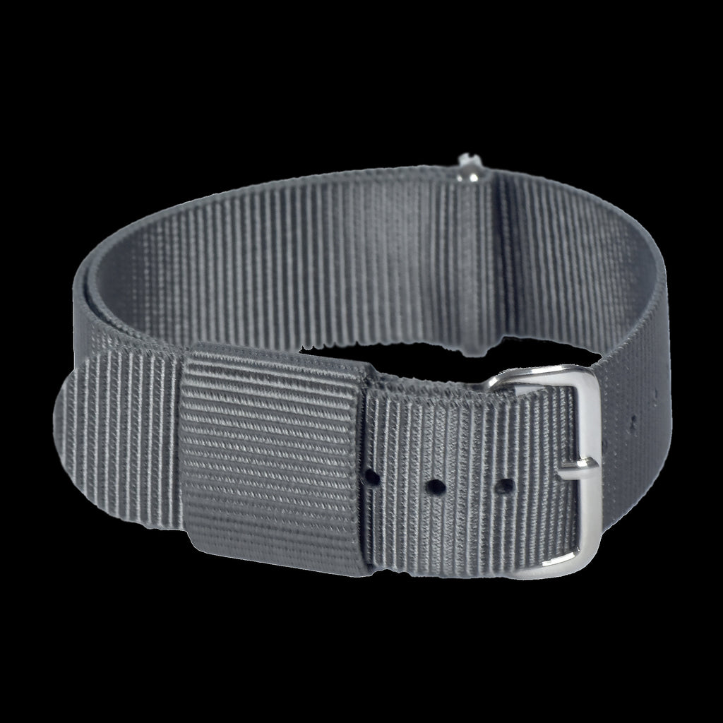 18mm Grey US Pattern Nylon Webbing Military Watch Strap