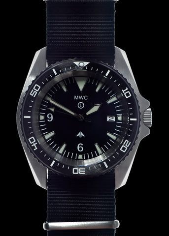 MWC Heavy Duty 300m Military Divers Watch in PVD Steel Case with Sapphire Crystal and Ceramic Bezel (Quartz)