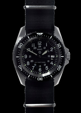MWC 300m / 1000ft Stainless Steel Quartz Military Divers Watch (Branded)