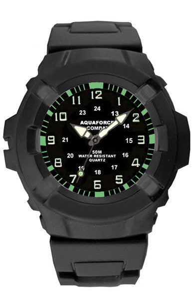 Heavy Duty Military Watch on Rubber Strap
