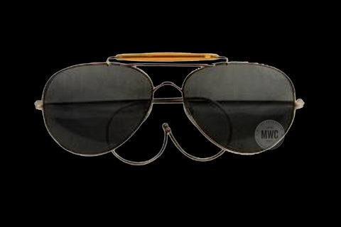 Military / Aviator Sunglasses (Green Lenses) REDUCED TO CLEAR AT UNDER HALF PRICE
