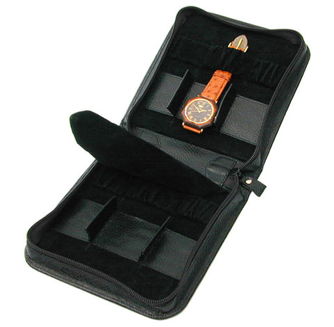 Protective Leather Watch Travel Case for 6 Watches - Ex Display Case reduced to clear.