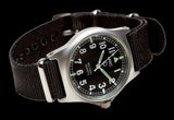 MWC G10 LM Stainless Steel Military Watch Non Date (Black NATO Strap)