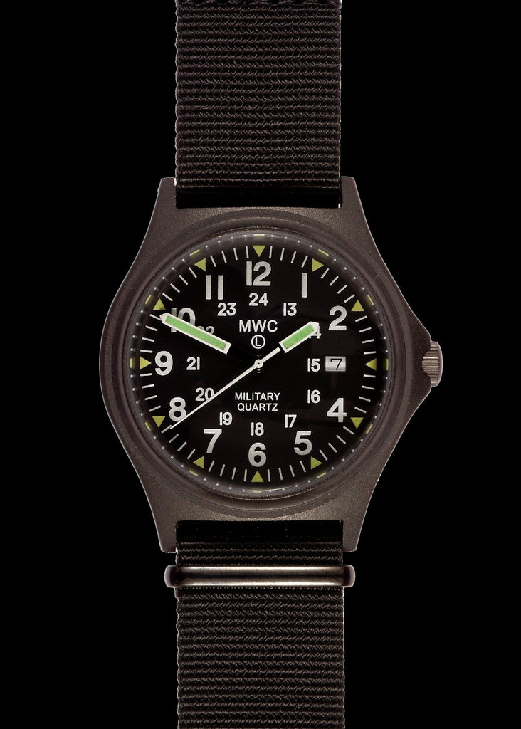 MWC G10BH PVD 12/24 50m Water Resistant Military Watch with Battery Hatch, Fixed Strap Bars and 60 Month Battery Life