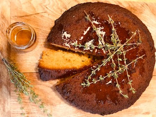 Honey, Almond And Thyme Cake