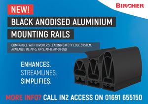 *Product Launch* Introducing Black Anodised Aluminium Safety Edge Mounting Rails!