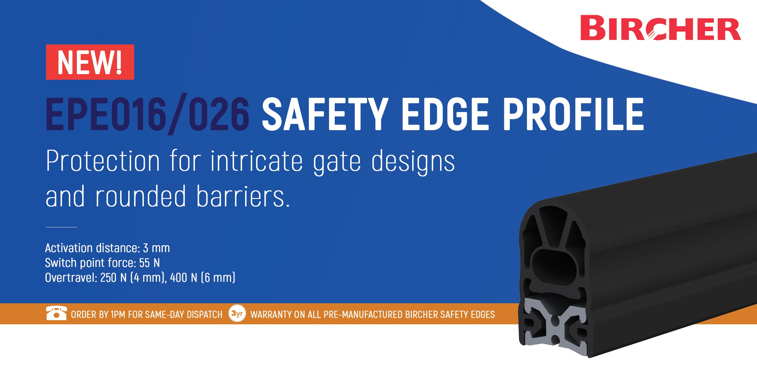 016/026 Safety Edge Profile for Barriers