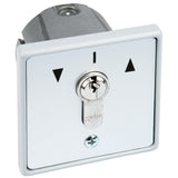 Flush Mount Key Switch - Centre Off, Single Pole, Double Throw (16Amp)