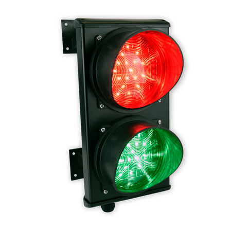 2 LED Traffic Light - (Red & Green) 9-35V AC or 8-45V DC