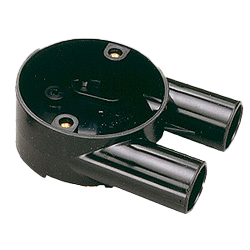 Branch U Boxes (2 Way) For Round PVC Conduit 20mm