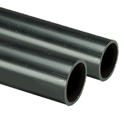 Black High Impact Heavy Gauge Round Conduit 20mm 3m Length