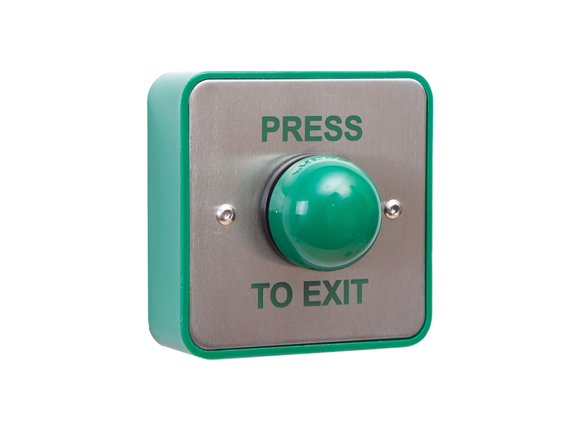 standard press to exit green dome button without collar