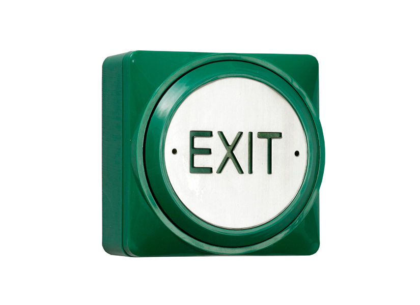 standard green plastic large 360 degree exit push plate
