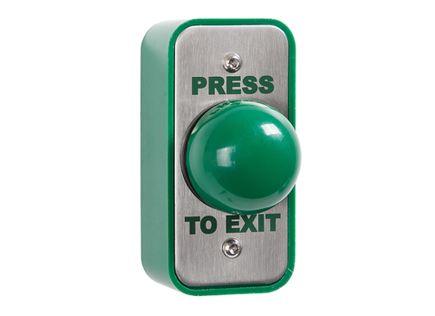 Architrave green dome button press to exit