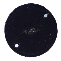 Black Standard Circular Conduit Box Lid