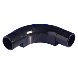 Black Round Conduit Inspection Bend 20mm