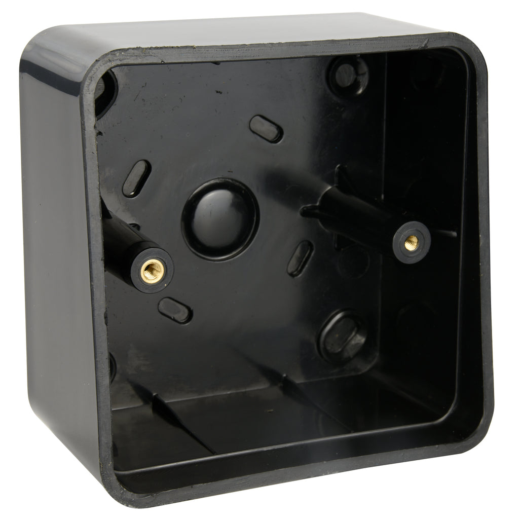 Plastic back box for standard range buttons