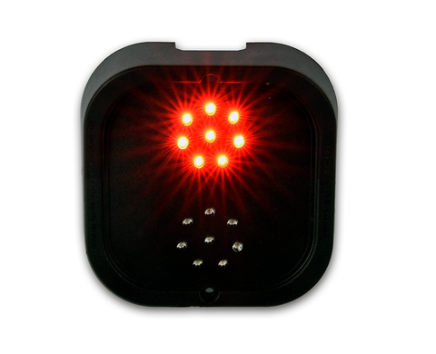 LED Traffic light with two 50mm diameter LED arrays w/ 1m cable tail