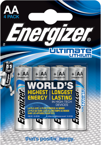 Energizer AA Ultimate Lithium Pack of 4