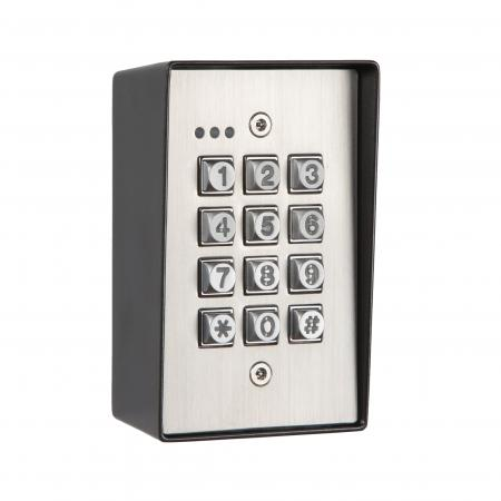 KP50 Anti-vandal weatherproof backlit entry keypad surface mount