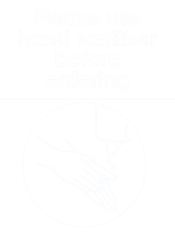 Please Use Hand Sanitiser Before Entering Sign 150 x 200mm - customisable