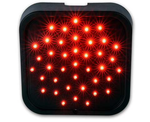 LED Traffic light with single Red 150mm diameter LED array w/ 4m cable tail
