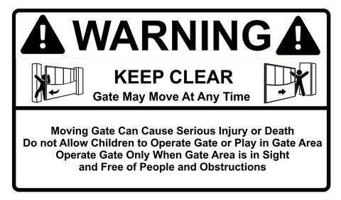 Warning Keep Clear Sign 300 x 175mm - customisable