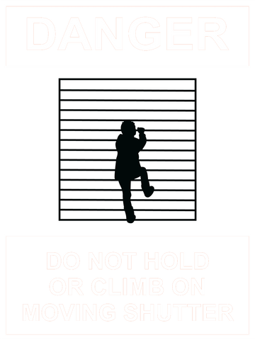 Caution Do Not Hold or Climb Sign 150 x 200mm - customisable