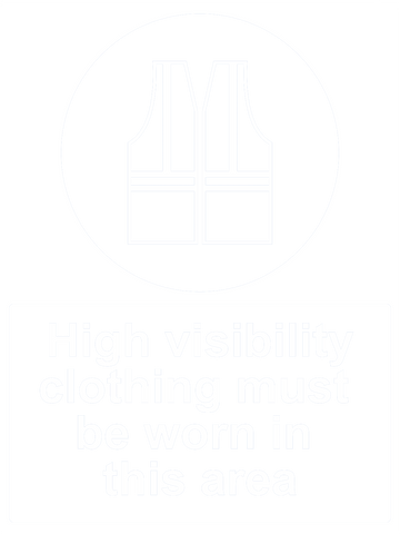 High Visibility Clothing Must Be Worn Sign 150 x 200mm - customisable