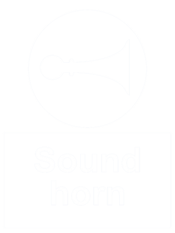 Sound Horn Sign 150 x 200mm - customisable