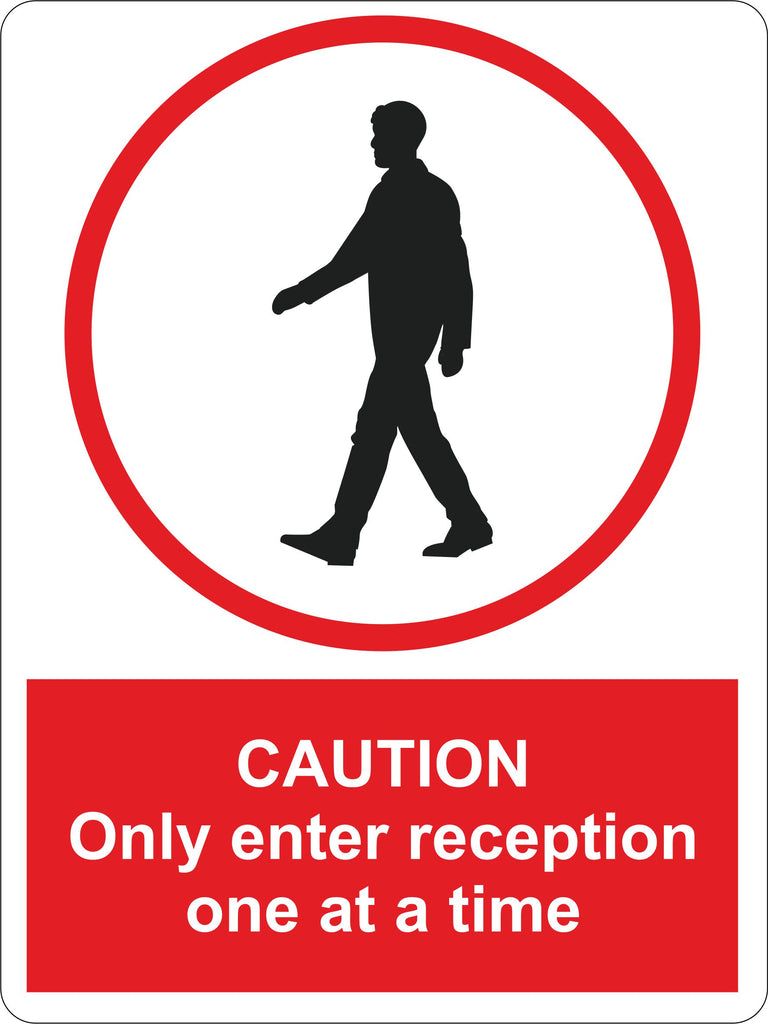 Caution One at a Time Sign  200 x 150mm